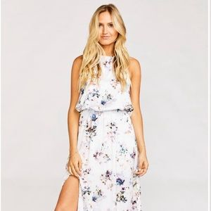 Heather Halter Dress in Boutique Beauty